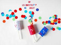 Créez avec vos enfants... LES CONFETTITS DU 14-JUILLET Réalisation La Maison de Loulou lamaisondeloulou.com
