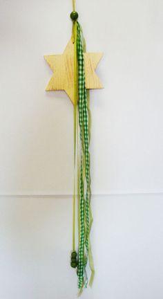 Stern aus Holz zum Aufhängen Deko / Weihnachten / Advent