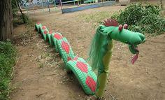 Jeux enfants pneus