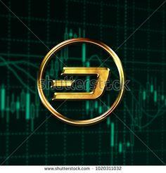 Dash logo digital cryptocurrency