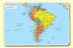 South America Placemat (Set of 4)