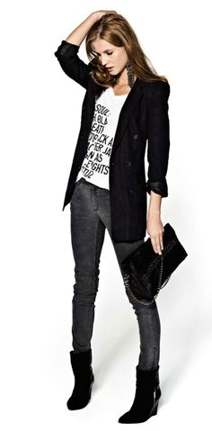 Love this! Edgy chic.
