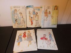 Inventory 42 Lot of 5 Vintage Patterns Girls Size 8