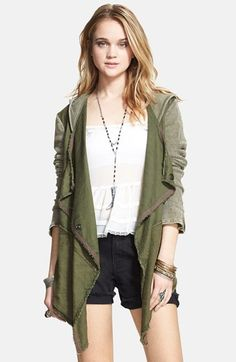 Free People Drapey Linen Blend Jacket available at #Nordstrom