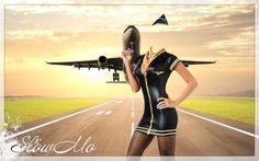 Костюм стюардессы самолеты для фотомонтажа