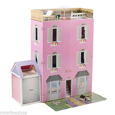 New Mamakiddies 1 2M Tall Hampton Barbie Wooden Dolls House with Free Furnitures | eBay