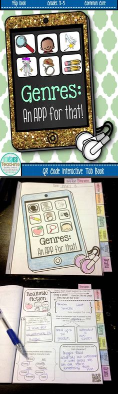 Genre Tab Book - Interactive with QR linked stories Library Lesson Plans, Library Skills, Library Lessons, Library Ideas, Library Activities, Reading Resources, Reading Skills, Reading Strategies, Teaching Genre