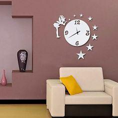 """24 """"Thème Petite fée mur bâton de conception des murs en acrylique Horloge – EUR € 29.99"""