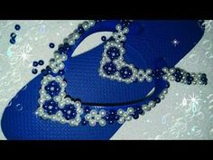 Beaded Ornaments, Bead Crafts, Flip Flops, Swarovski, Jewelry Making, Slippers, Beads, Shoes, Fashion