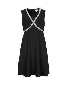 EMB CROSS OVER FRONT DRESS - Black | Dresses | Ted Baker