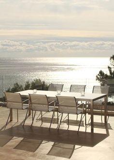 Royal Botania Esstisch Taboela x 100 cm, verschiedene Modelle Outdoor Living Furniture, Wicker Furniture, Furniture Design, Patio Dining, Outdoor Dining, Dining Table, Outdoor Decor, Summer Decoration, Royal Botania