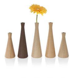 Durame Stelo vaso porta fiori in legno massello