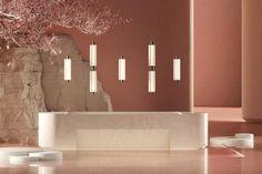 Sebastian Herkner Collaborates with Rakumba — Design Anthology Nendo Design, Sebastian Herkner, Corridor Design, Tokyo Design, Art Deco Buildings, Global Design, Modular Design, Reception Areas, Japanese House