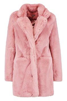 College Fashion, College Style, Scream Queens Fashion, White Faux Fur Coat, Modern Fashion, Style Fashion, Cute Coats, Pink Coats, Women Wear