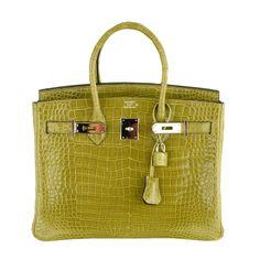 Hermes - Hermes Birkin BAG 30cm CROCODILE VERT ANIS POROSUS Amazing Find!