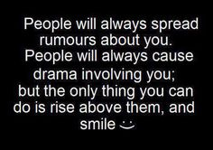 Yes, rise above them petty losers and idiots.