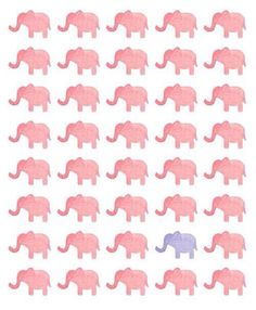 elephant, pink, and wallpaper