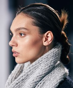 Soft neutral tones and subtle contouring at the Witchery AW15 Runway Show
