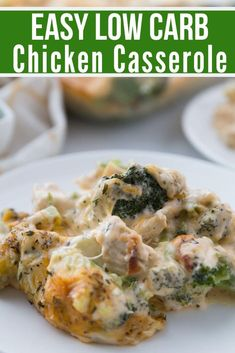 Low Carb Chicken Casserole {keto friendly} - Keto Recipes - Ideas of Keto Recipes - This simple Low Carb Chicken Casserole is packed full of delicious chicken broccoli and cheese. The entire family will enjoy this easy keto recipe. Low Carb Keto, Low Carb Recipes, Diet Recipes, Cooking Recipes, Healthy Recipes, Pasta Recipes, Snack Recipes, Low Carb Chicken Casserole, Keto Casserole