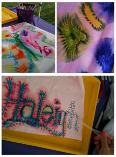 Tie Dye without tying and dying...Using Sharpie Markers & Rubbing Alcohol