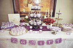 Hostess with the Mostess® - vintage lavender owl baby shower