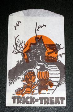 Vintage Halloween Trick or Treat Bag Paper Ephemera 1970s Lot of 5 on Etsy, $5.95