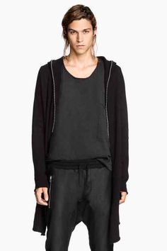 Dlouhý svetr na zip