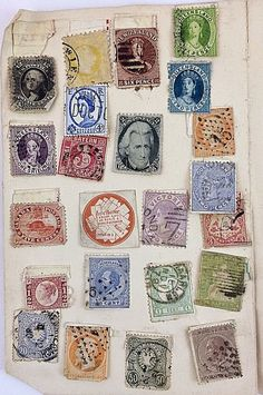 Antique small Collection of British, America & World Stamps - Some Victorian