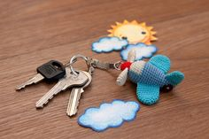 Free Airplane Keychain Crochet Pattern