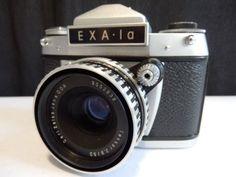 Working-Ihagee-EXA-I-A-SLR-camera-Macro-bellows-TESSAR-2-8-50-Zebra-lens-case