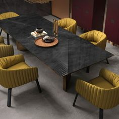 Grey cement effect floor & wall tiles for a dining room. It's an inspiring interior design idea for your home or even for an exclusive hotel. Dinning Table, Dining Room, Slate Flooring, World Of Interiors, Rustic Chic, Best Interior, Interior Design Inspiration, Home Collections, Interior Architecture