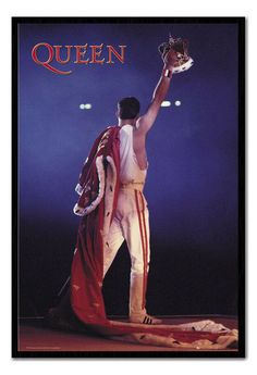Queen Freddie Mercury Crown Framed Cork Pin Notice Board With Pins Office Memo, Poster Prints, Posters, Queen Freddie Mercury, Light Reflection, Cork, Studio, Decoration, Tattoos