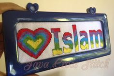 "free #bokmark pattern ""love Islam"" #javacrossstitch #crossstitch #etamin #etsy #kruissteek #kreuzstich #ayatkitabsuci #sulam #handmade #kanaviçe #korrstygn #haft #haftkrzyżykowy"
