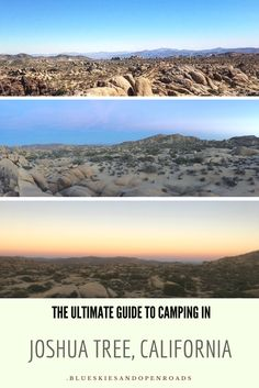 The Ultimate Guide to Camping in Joshua Tree, California blueskiesandopenroads