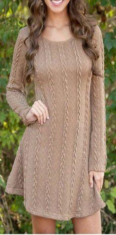 Knitting Women Knitting Sweater Dress