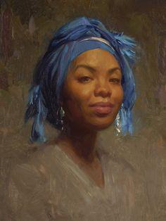 Andrea in Blue Turban Artist Scott Burdick.***