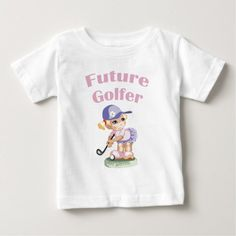 Future Golfer Girl kids clothing Baby T-Shirt