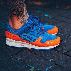 of the Ronnie fieg east coast project release: asics Gel lyte III X New York Knicks influenced. Asics Shoes, Shoes Sneakers, Reebok, Style Masculin, Asics Gel Lyte Iii, Sneaker Games, Site Nike, Nikes Girl, Nike Shoes Outlet