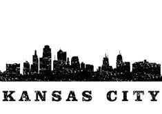 Kansas City skyline-black by Erzebet S Kansas City Skyline, Kansas City Chiefs, Black Artists, Cricut Design, Watercolor Art, Digital Art, Tattoos, Artwork, Projects