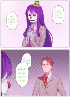 Michael Afton by rhinocerious on DeviantArt Yandere Characters, What Is My Life, Doki, My Confession, Eyeless Jack, Circus Baby, Strange Photos, Freddy S, Literature Club