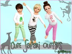Cute Safari toddler outfit by Waterwomen - Sims 3 Downloads CC Caboodle