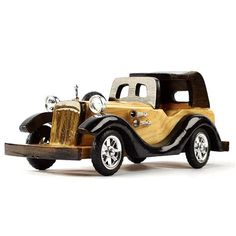how to make wooden miniature car Miniature Cars, Cool House Designs, Wood Turning, Antique Cars, Home Goods, Miniatures, Woodworking, Carving, Vintage Cars
