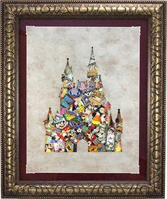 Disney castle pin collage