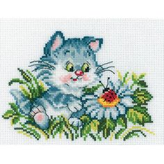"""Let's Make Friends Counted Cross Stitch Kit-6.75""""X5"""" 14 Count"""