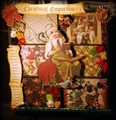 Christmas Emporium Photo Tray by @Katie from Memories2Keepsakes. Amazing! #graphic45