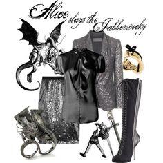 """""""Alice Slays the Jabberwocky"""" by princesschandler on Polyvore"""