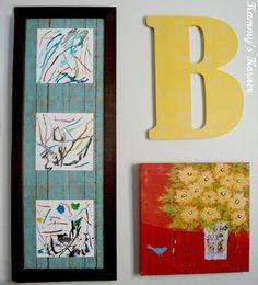 Kammy's Korner: Incorporating Kid's Artwork Into Your Decor {3 Displays}