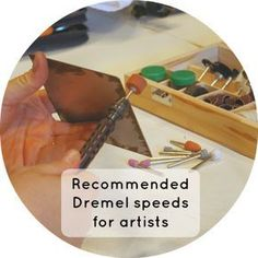 Woodworking Tips Recommended Dremel speeds for artists by Elissa Campbell - I'm frequently asked about the Dremel speed one should use on a particular material. It's tough for me to know all of the possible accessory/speed/material Dremel Werkzeugprojekte, Dremel Wood Carving, Dremel Rotary Tool, Dremel 3000, Learn Woodworking, Popular Woodworking, Woodworking Crafts, Woodworking Plans, Woodworking Furniture