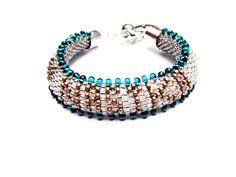 Bracelet Personalized. Beaded Bracelet Toho Seed Beads Bracelet Grey Bracelets Beaded White Bracelet Crochet Rope Beaded Gift for Her by MadeByJoLis on Etsy