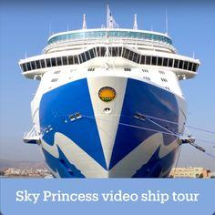 Princess Cruises Sky Princess Ship Tour 2020 - A complete Grand Tour of Princesses newest ship! Princess Videos, Sailing Adventures, Celebrity Cruises, Disney Fantasy, Princess Cruises, Cruise Tips, Grand Tour, Royal Caribbean, Romantic Travel